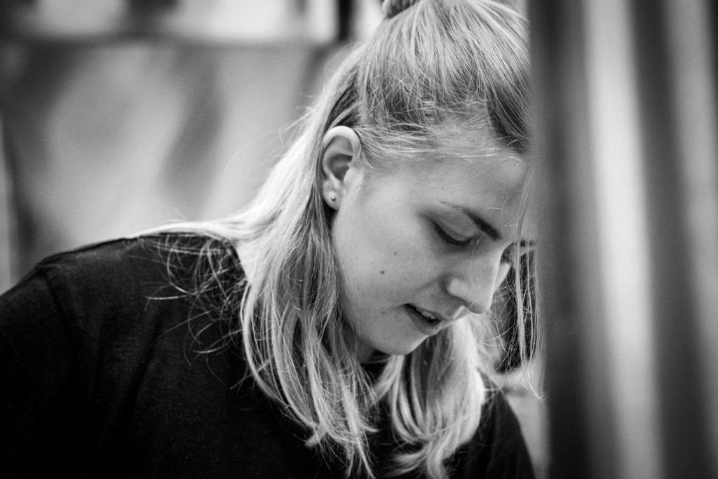 Molly Hedenquist, a brewery intern at Beerbliotek, a Swedish Craft Beer Brewery in Gothenburg.